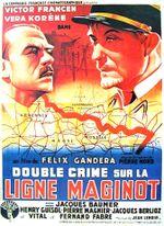 Affiche Double crime sur la ligne Maginot