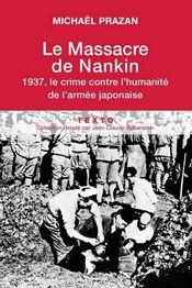 Couverture Le massacre de Nankin