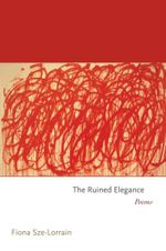 Couverture The Ruined Elegance: Poems