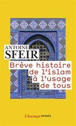 Couverture Brève histoire de l'islam à l'usage de tous