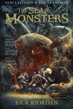 Couverture The Sea of Monsters Graphic Novel - Percy Jackson, Tome 2