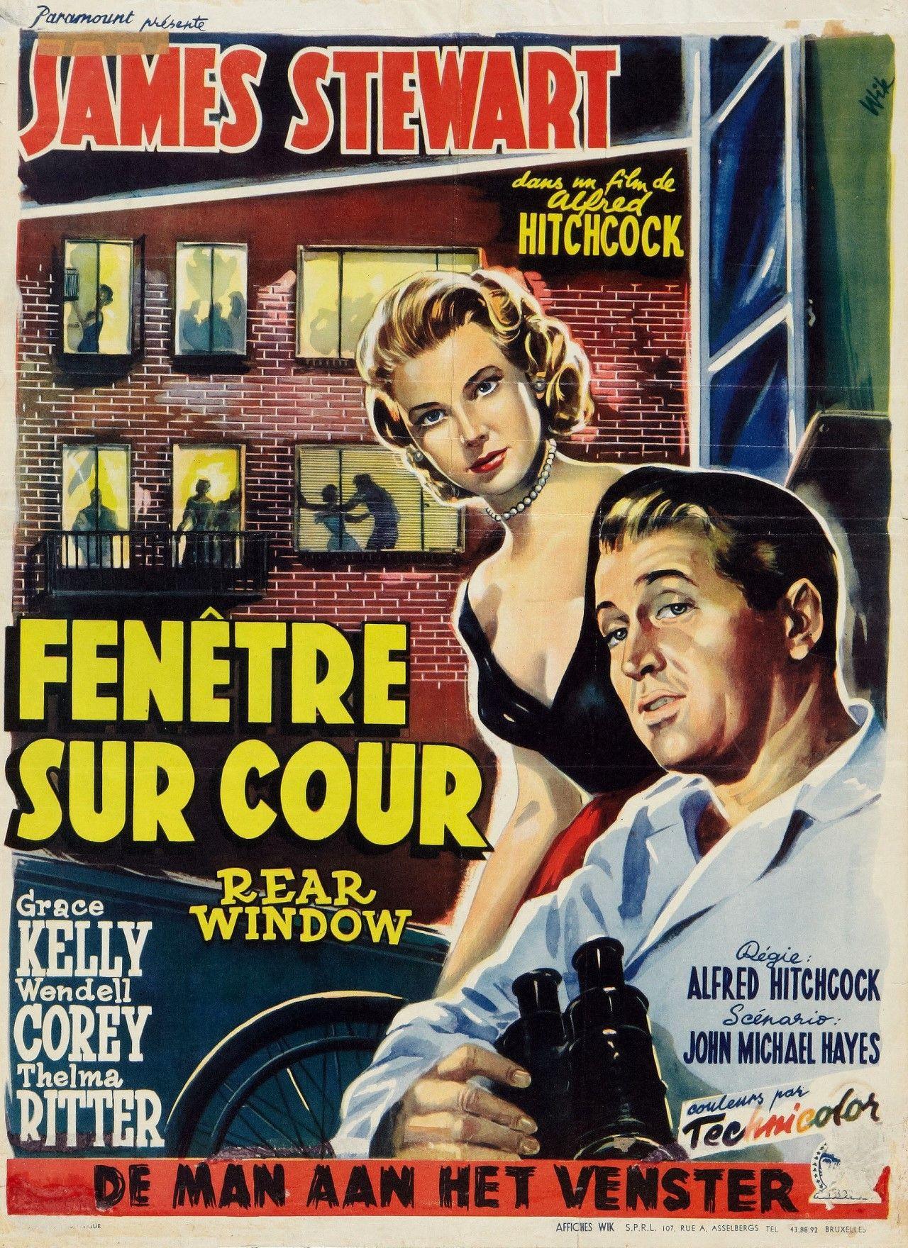 affiches posters et images de fen tre sur cour 1954