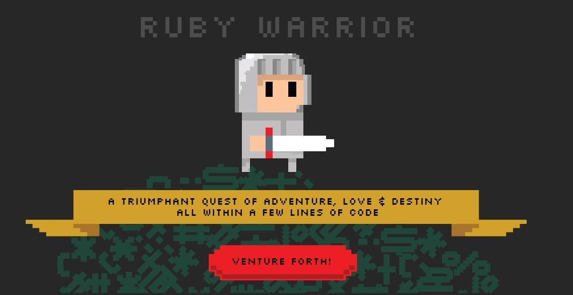 ألعاب تعلم البرمجة - Ruby Warrior