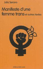 Couverture Manifeste d'une femme trans et autres textes