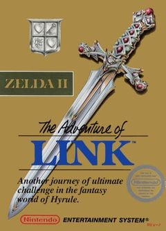 Jaquette Zelda II : The Adventure of Link
