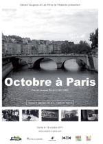 Affiche Octobre à Paris