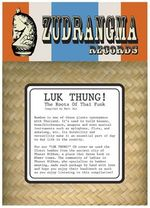 Pochette Luk Thung! The Roots of Thai Funk