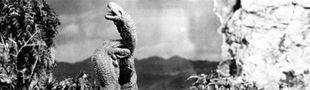 Cover Films mettant en scène l'éternel affrontement entre théropodes et sauropodes