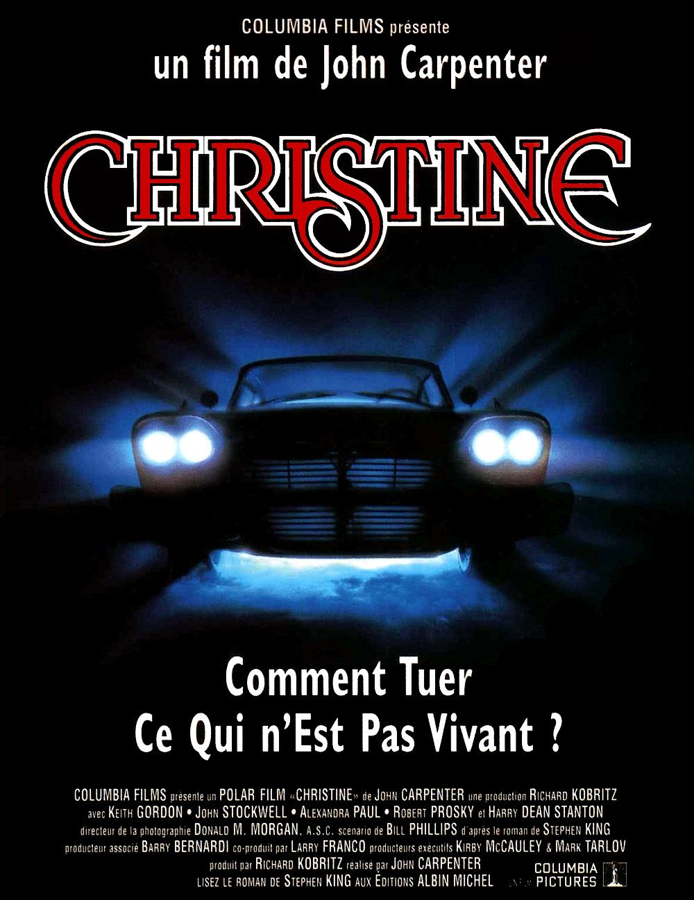 Résultat d'images pour affiche du film Christine de John Carpenter