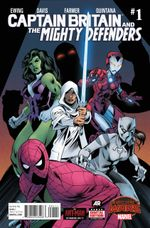 Couverture Captain Britain and the Mighty Defenders