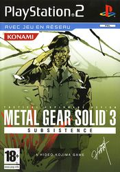 Jaquette Metal Gear Solid 3 : Subsistence