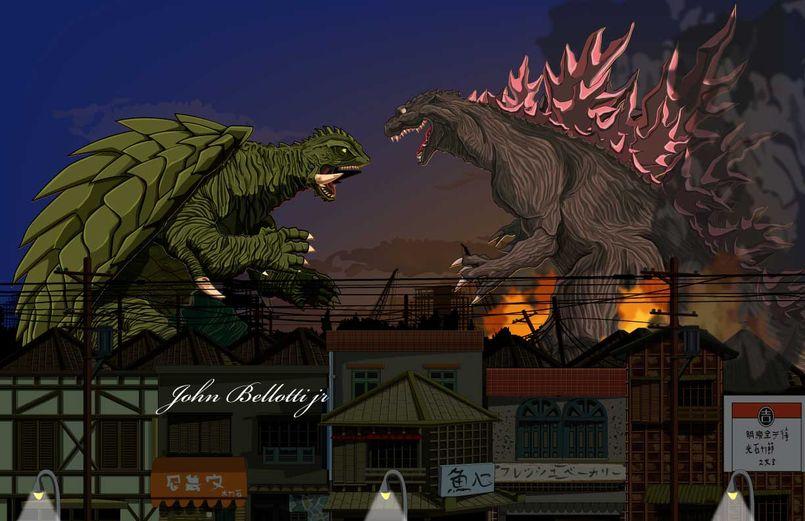 Illustration Godzilla et le Kaiju Eiga en générale !