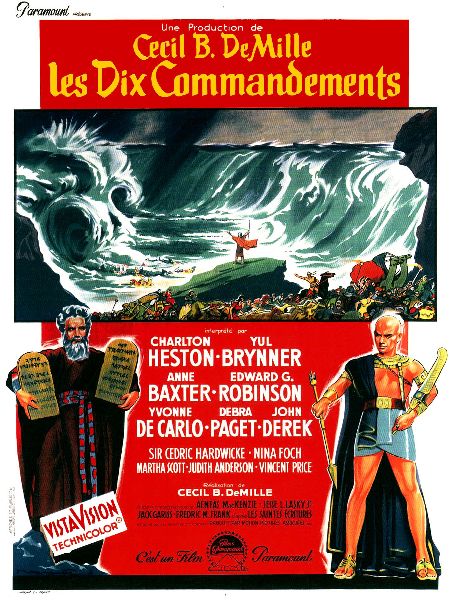 les dix commandements film 1956 senscritique. Black Bedroom Furniture Sets. Home Design Ideas
