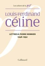 Couverture Lettres à Pierre Monnier (1948-1952)