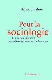 Couverture Pour la sociologie