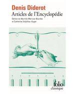 Couverture Articles de l'encyclopédie