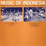 Pochette Music of Indonesia