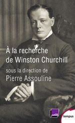 Couverture À la recherche de Winston Churchill