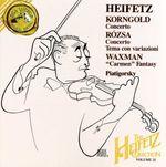 "Pochette Korngold: Violin Concerto / Rózsa: Violin Concerto / Tema con variazioni / Waxman: ""Carmen"" Fantasy"