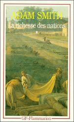 Couverture Recherches sur la nature et les causes de la richesse des nations