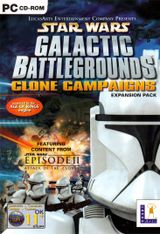 Jaquette Star Wars : Galactic Battlegrounds - Clone Campaigns