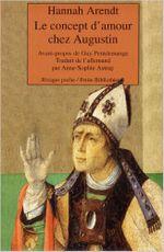Couverture Le concept d'amour chez Augustin