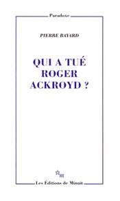 Couverture Qui a tué Roger Ackroyd ?