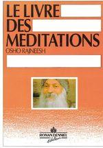 Couverture Le livre des méditations