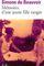 Couverture Mémoires d'une jeune fille rangée