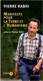 Couverture Manifeste pour la Terre et l'humanisme