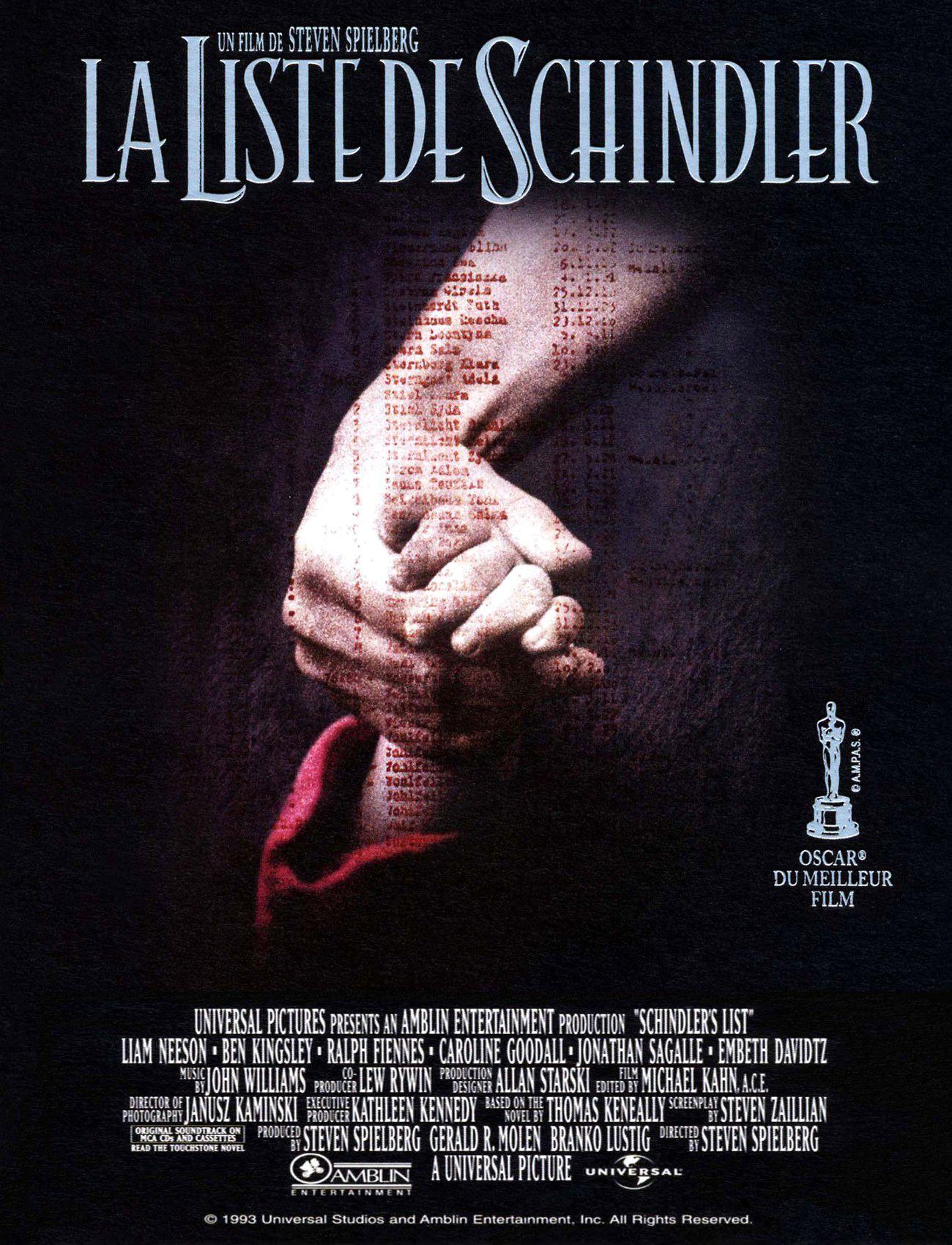 Affiches posters et images de la liste de schindler 1993 - Liste family office france ...