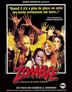 Affiche Zombie - Le Crépuscule des morts-vivants