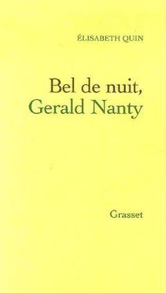 Couverture Bel de nuit, Gérald Nanty