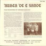 Pochette 'Auhea 'Oe E Sanoe: Field Recordings of Hawaiian Slack Key
