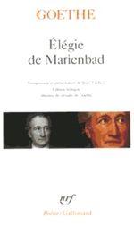 Couverture Elégie de Marienbad et autres poèmes