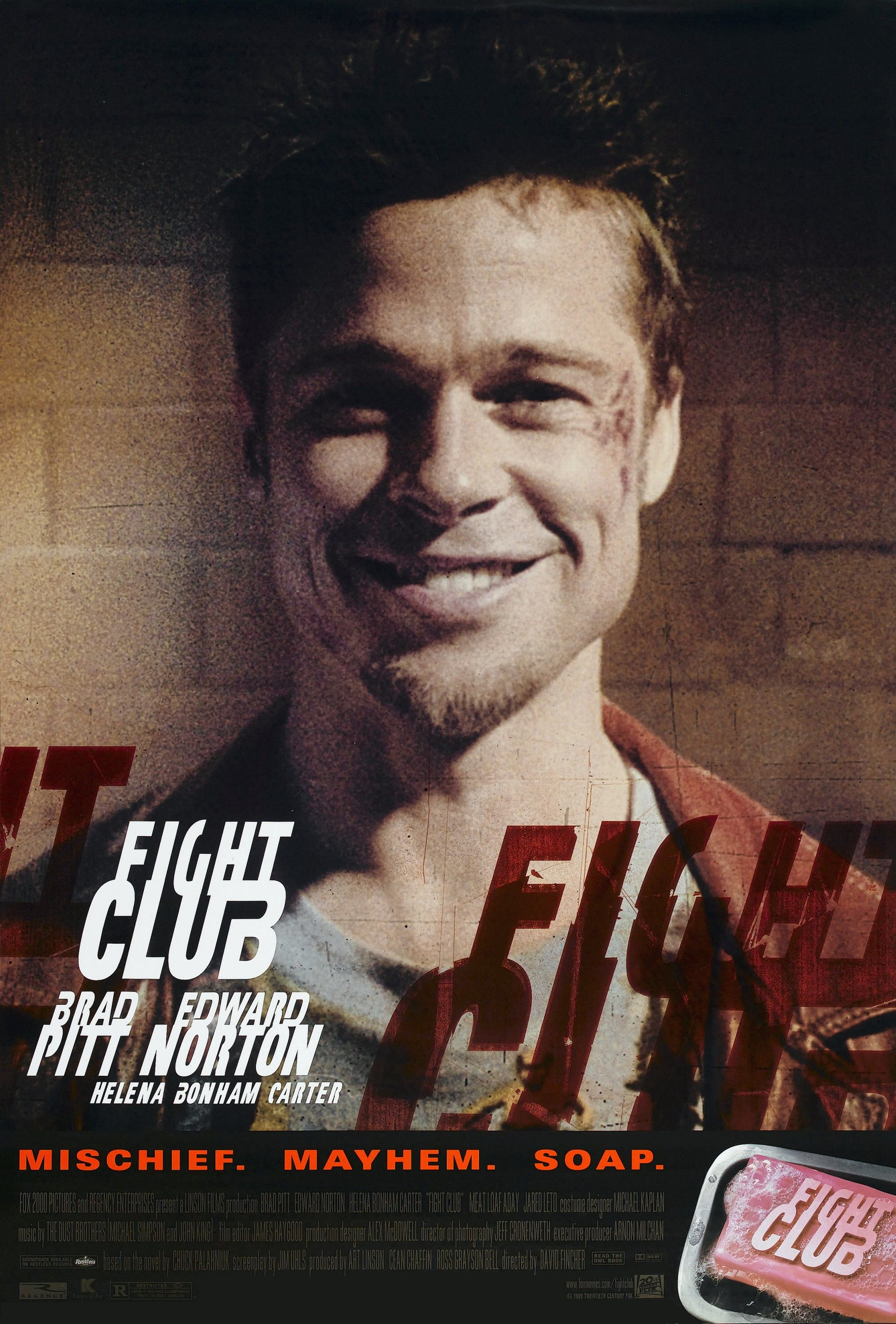 anaylsis of the film fight club The film starts at the ending of the movie and goes back in the main character's  memory  cinematic composition is important to fight club as it is to all movies.