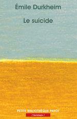 Couverture Le suicide