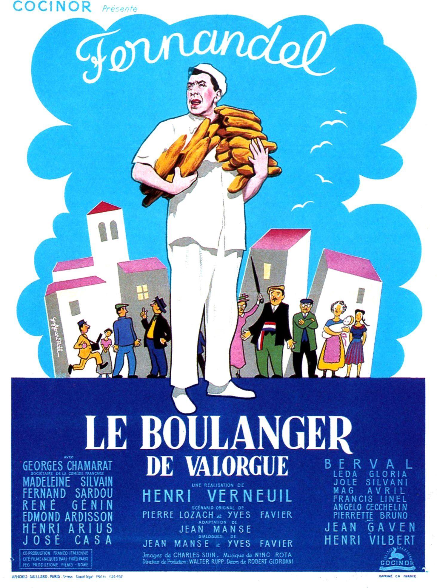 Affiches, posters et images de Le boulanger de Valorgue (1953)