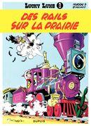 Couverture Des rails sur la prairie - Lucky Luke, tome 9