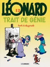 Couverture Trait de génie - Léonard, tome 12