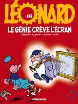 Couverture Le génie crève l'écran - Léonard, tome 46