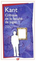 Couverture Critique de la faculté de juger