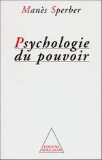 Couverture Psychologie du pouvoir