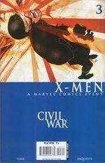 Couverture Civil war X-men 3