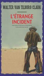 Couverture L'étrange incident