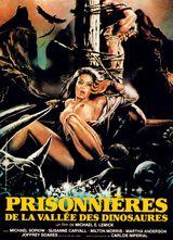 Affiche Prisonnières de la vallée des dinosaures