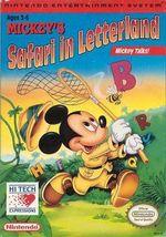 Jaquette Mickey's Safari in Letterland
