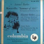 """Pochette Knoxville: """"Summer of 1915"""" for Soprano and Orchestra, Op. 24 / Four Excursions, Op. 20"""