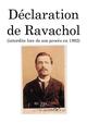 Couverture Déclaration de Ravachol - (interdite lors de son procès en 1892)