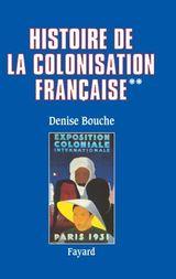 Couverture Histoire de la colonisation française